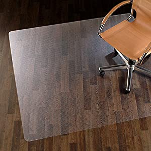 Office Marshal® Chair Mat for Hard Floors - 100% Pure Polycarbonate, No-Recycling Material - Transparent, High Impact Strength