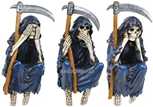 grim reaper kantenhocker 3er set figur nicht sehen h ren sprechen k che haushalt. Black Bedroom Furniture Sets. Home Design Ideas