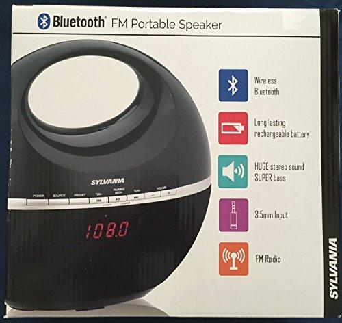 Sylvania-Bluetooth-FM-Portable-Speaker-black