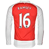 Puma Ramsey #16 Arsenal Home Jersey 2015-16 Long Sleeve(Authentic name and number of player)/サッカーユニフォーム ア-セナルFC ホーム用 長袖 ラムジー 背番号16 (X-Large)