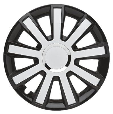 4er-Satz Radkappen 14 Zoll Master Line Plus C Flash_black-white für Audi, Radblenden Radzierblenden Radkappe von Albrecht
