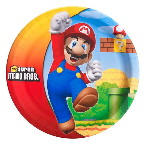 Super Mario Bros. Dinner Plates [8 Per Pack] - 1