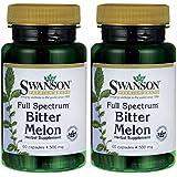 Swanson Premium Full-Spectrum Bitter Melon 500mg -- 2 Bottles each of 60 Capsules