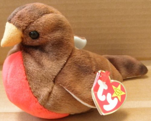 TY Beanie Babies Early the Robin Bird Plush Toy Stuffed Animal