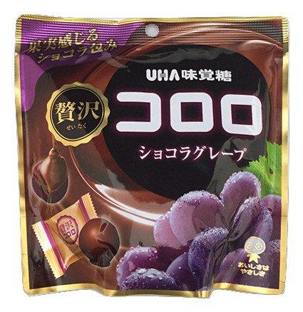 味覚糖 贅沢 コロロ ショコラグレープ 54g -