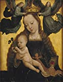 'David Gerard Virgin and Child with Angels Ca. 1520 ' oil painting, 24 x 31 inch / 61 x 78 cm ,printed on Perfect effect canvas ,this Best Price Art Decorative Canvas Prints is perfectly suitalbe for Bedroom decor and Home decoration and Gifts