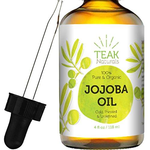 100-ORGANIC-Teak-Naturals-Jojoba-Oil-4-oz-Pure-Cold-Pressed-Unrefined-Natural-Made-In-The-USA
