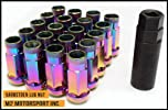 Varrstoen Vt48 Lug Nuts 12×1.5mm Extended Open (Neo Chrome) Fits Subaru Nissan