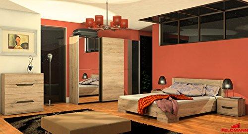 Schlafzimmer 110028 komplett 4-teilig mit Doppelbett und Schwebeturenschrank