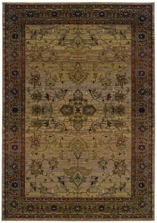 Sphinx by Oriental Weavers 748679154371 Kharma 2.25 ft. x 4.42 ft. Traditional Rug - Beige and Green