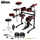 ddrum DD1 Complete Electronic Drum Kit with Cables, Earbuds, Drumsticks & Drum Throne