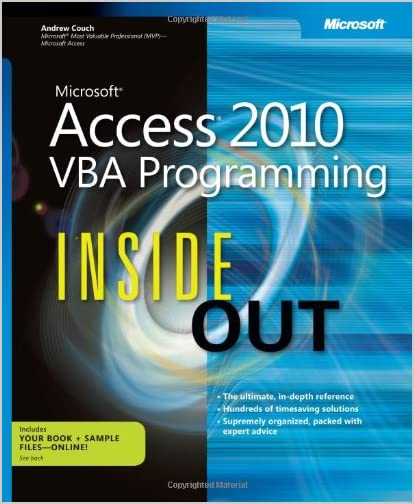 Microsoft Access 2010 Inside Out by Jeff Conrad and John Viescas