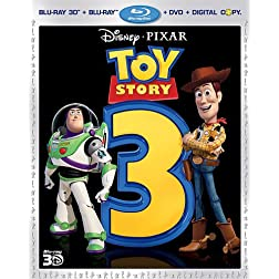 Toy Story 3 (Five-Disc Combo: Blu-ray 3D/Blu-ray/DVD + Digital Copy)