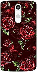 The Racoon Grip Maroon Rose Wallpaper hard plastic printed back case / cover for LG G3 Stylus
