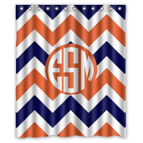 orange chevron shower curtain. Chevron Pattern Orange Shower CurtainClick To Check Price  Waterproof Orange And Blue Chevron Best Curtain