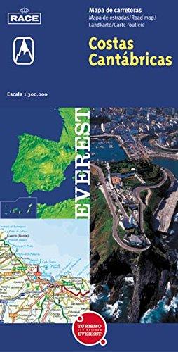 Mapa turístico de las Costas Cantábricas (Mapas de Costas de España / serie azul), Buch