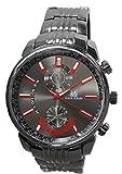 ★メタルタイプ ブラック ビッグフェイス メンズ 腕時計☆BO-4705