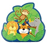Stephen Joseph Play And Color Puzzle - Zoo (Multicolor)