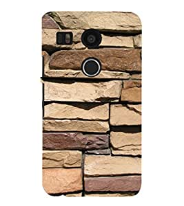 EPICCASE Big stone wall Mobile Back Case Cover For LG Nexus 5x (Designer Case)