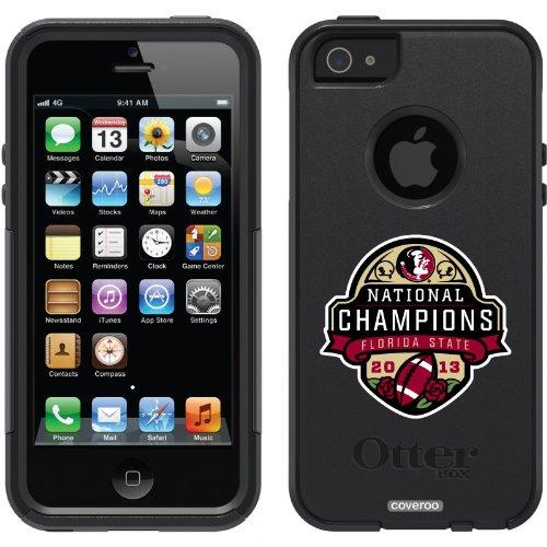 Special Sale Florida State 2013 BCS Champions Mark design on a Black OtterBox® Commuter Series® Case for iPhone 5s / 5