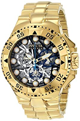 Invicta Men's 15979 Excursion Analog Display Swiss Quartz Gold Watch