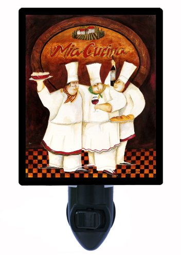 Kitchen Night Light - Tuscan Chefs - Led Night Light