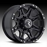 レースライン アルミホイール 5本セット 981 Raptor 17 x 9.0J 0 5H 127 マットブラック