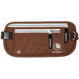 Venture 4th RFID Blocker Money Belt (Brown)