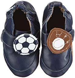 Robeez Soft Soles On The Field Pre-Walker Customizable (Infant/Toddler),Navy,12-18 Months (4.5-6 M US Toddler)