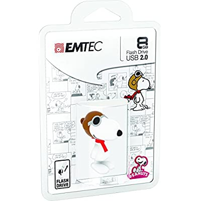 Emtec Peanuts Snoopy Flying Ace 8GB USB 2.0 Flash Drive (ECMMD8GPN104)