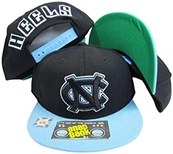 North Carolina Tar Heels Black Light Blue Two Tone Plastic Snapback Adjustable... by Top of the World