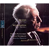 Mendelsssohn : Trio pour piano, violon et violoncelle n° 1 op. 49 - Brahms : Trio pour piano, violon et violoncelle n° 1 op. 8 / Collection Rubinstein, vol. 24