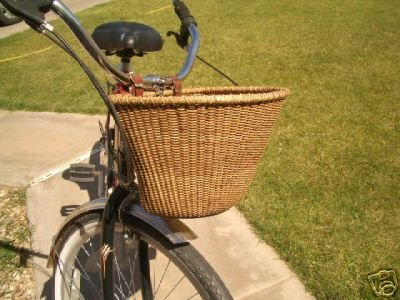 Nantucket Style Bike Basket Stained Vintage Look by BagnBasket