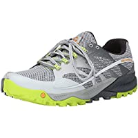 Merrell Men's All Out Charge Trail Running Shoe (Grey/Lime Green)