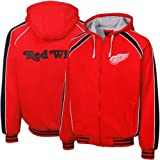 NHL Detroit Red Wings Red-Black Colorblock Full Zip Fleece Hoodie Jacket (Large) at Amazon.com