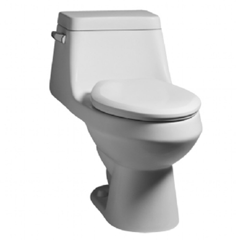 10 inch rough in toilet - American Standard 2862 056 020 Fairfield Elongated One Piece Toilet With Seat White
