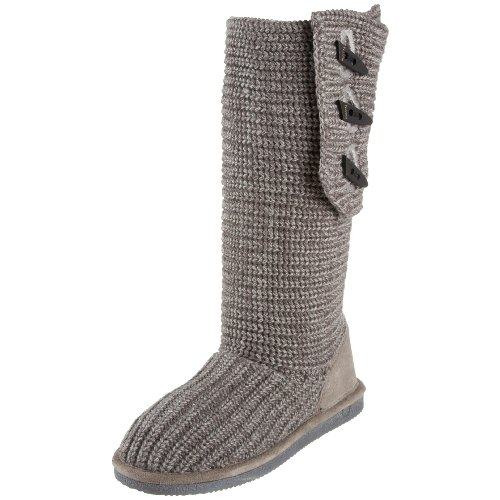 Gray Knit Bearpaw Boots Bearpaw BEARPAW Women'...