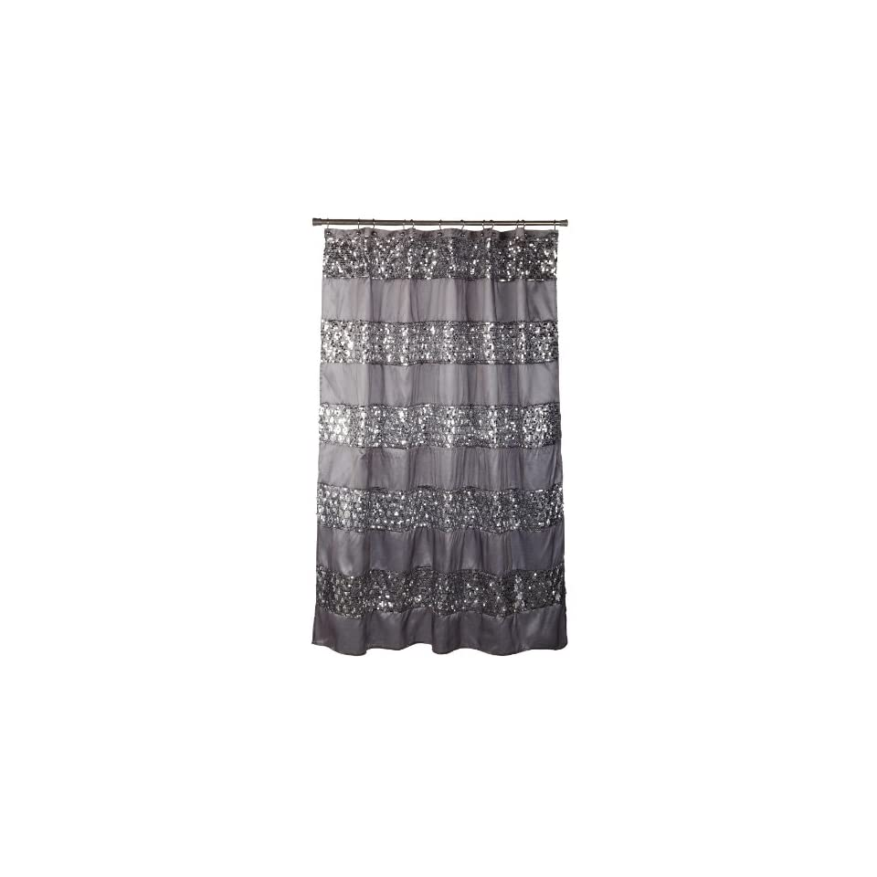 Black Fabric Bath Shower Curtain Liner Bathroom