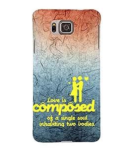 EPICCASE love is composed Mobile Back Case Cover For Samsung Galaxy Alpha (Designer Case)