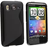 Insten® Black Soft Case Gel Rubber Cover Compatible with HTC Inspire 4G
