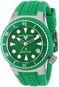 Swiss Legend Women's 11840D-08 Neptune Green Dial Green Silicone Watch
