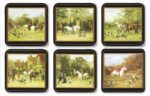 pimpernel-105-x-105-cm-mdf-with-cork-back-tally-ho-coasters-set-of-6-multi-colour