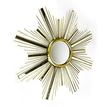 Sagebrook Home WM10172 Metal & Glass Starburst Mirror, 36