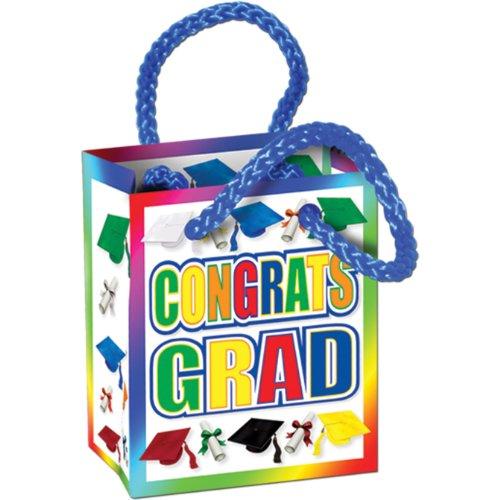 Congrats Grad Mini Gift Bag Party Favors   (4/Pkg) - 1