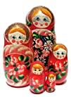 GreatRussianGifts Matryoshka nesting doll 5-pc Red