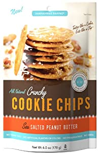 Hannah Max Baking All Natural Crunchy Cookie Chips, Sea Salted Peanut Butter, 6 Ounce