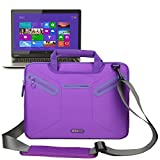 Evecase Multi-functional Neoprene Messenger Case Tote Bag for Toshiba Satellite Click W35t / W35Dt, W30t/ W30Dt 13.3-inch Touch-Screen Laptop, U925T-S2120 12.5-Inch Ultrabook - Purple