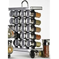 Olde Thompson オールド トンプソン スパイスラック 25-680 20-Jar Stainless-Steel Spice Rack with Spices 並行輸入品