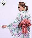 高級変わり織り浴衣3点セット 水彩画風な麻の葉