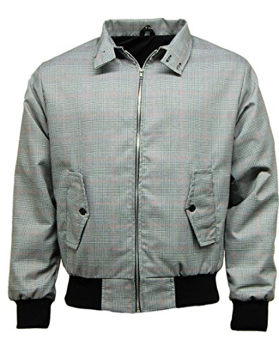Taboo Fashion Clothing Men's Prince Of Wales Check Harrington Jacket